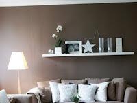 Wohnideen Wandfarbe Braun
