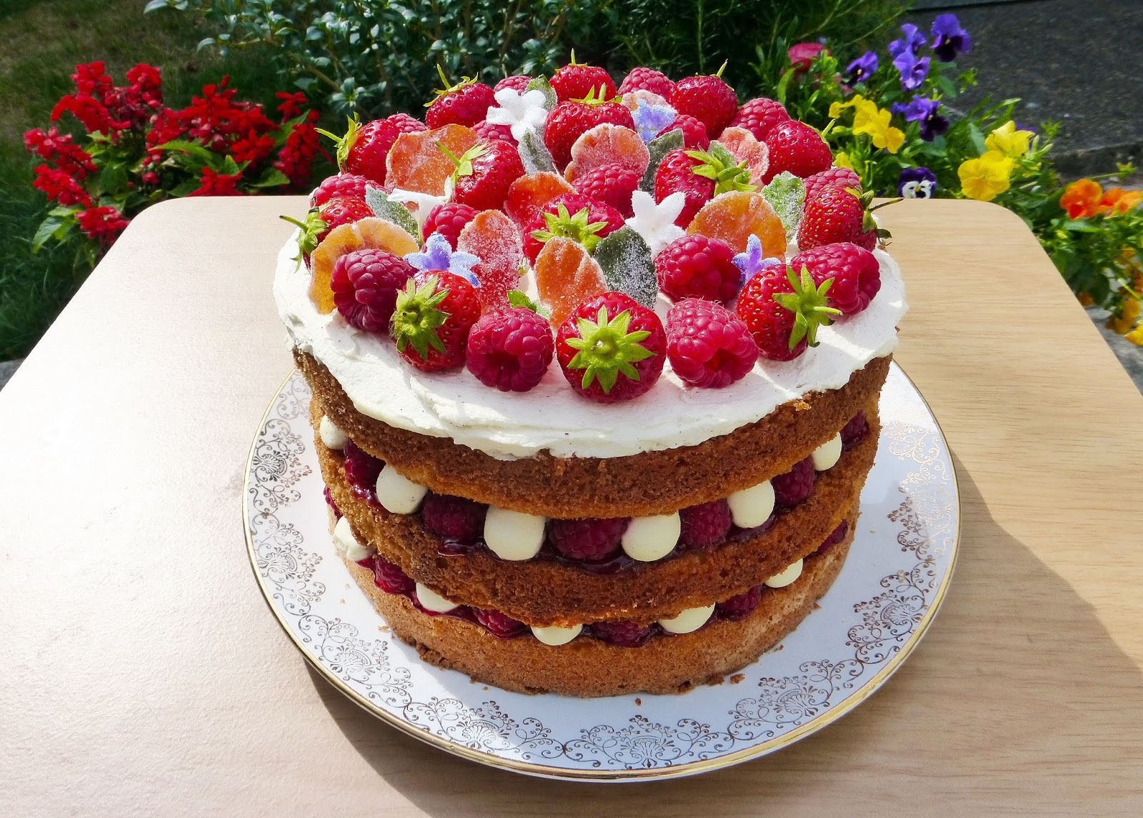Fancy Victoria Sponge For Dad S Birthday