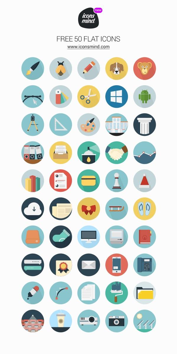 50 iconos minimalistas gratis