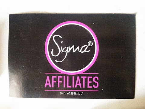 Welcome Gift from Sigma Beauty*