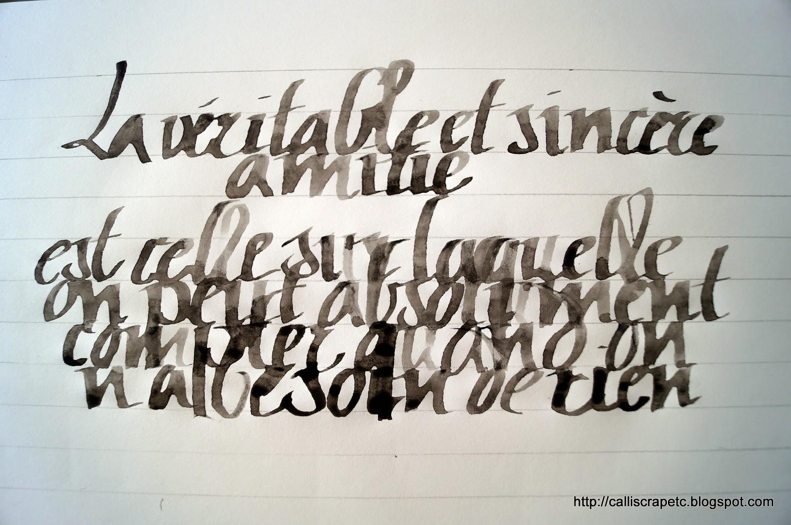 Tatouage Calligraphie Francaise