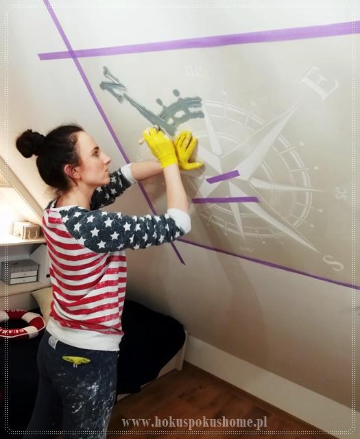 jak malować przy użyciu szablonu
