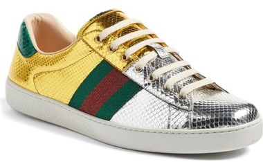 Gucci New Ace Metallic Sneaker
