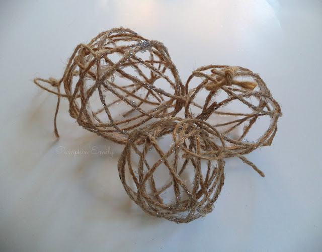 DIY Twine Ball Ornaments