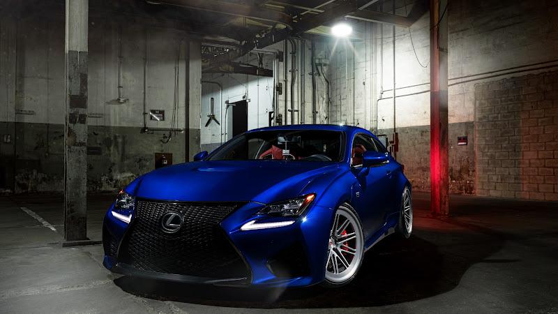 Vossen Blue Lexus RC F 2