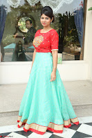 Lucky Shree Looks super cute in Bright Red Green Anarkali Dress ~  Exclusive 004.JPG