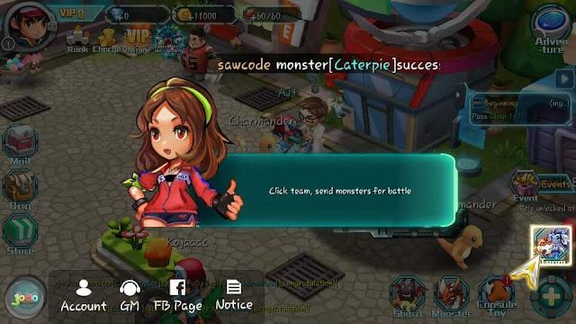 """Cara Mengatasi Masalah Force Close Saat """"Click team, send monsters for battle"""" Pada Game of Monster: Pokeland Legends"""