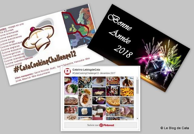 #CataCookingChallenge12- récapitulatif de décembre 2017
