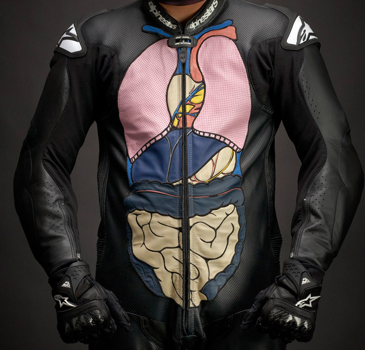 anatomical motorcycle suit