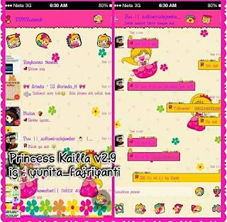 BBM Tema Pink Kartun Princess
