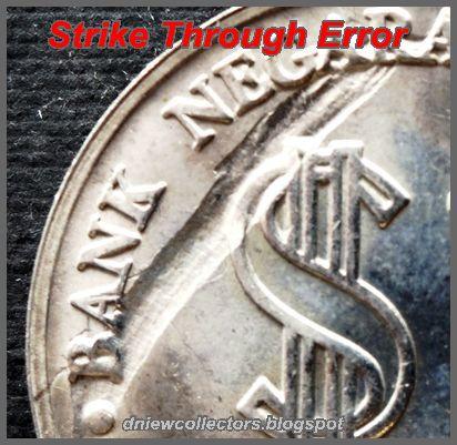 COMMEMORATIVE COIN STRIKE THROUGH ERRORS (2)   Error coins