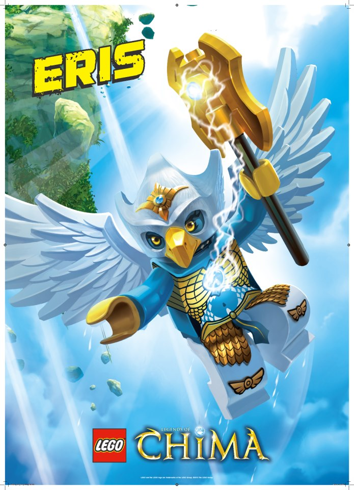 LEGO Eagle Tribe ERIS Legends of Chima Poster Unleash The Power + Characters | eBay