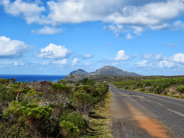 Road to the Cape of Good Hope in South Africa