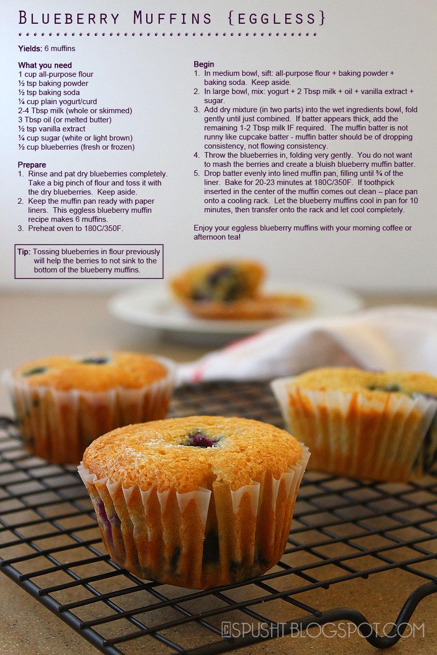 Eggless Blueberry Coffee Cake Recipe