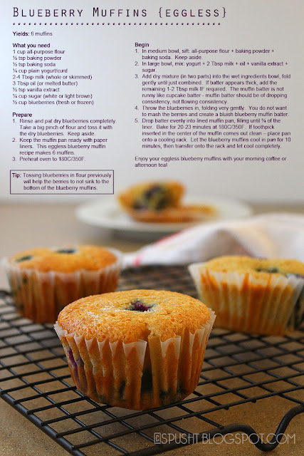 Spusht | Eggless Blueberry Muffins Recipe