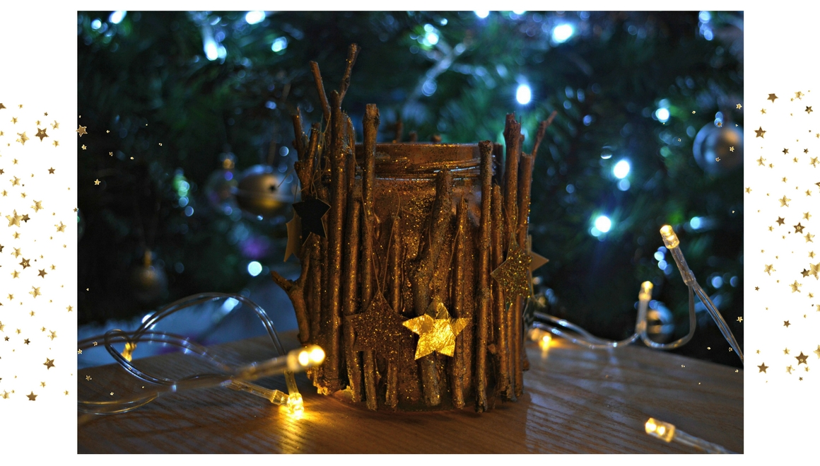 last minute christmas gift diy candle holder