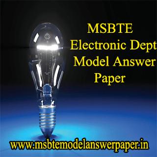 -> ELECTRONIC DEPT (SEM - 4) MODEL ANSWER PAPERS DOWNLOAD PDF