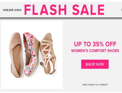 Hudson's Bay Flash Sale 35% off Women's Comfort Shoes