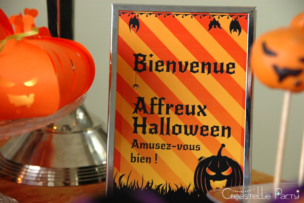 halloween sweet table - affichette bienvenue - welcome sign