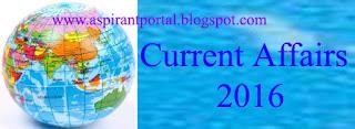 Current affairs- April 26, 2016