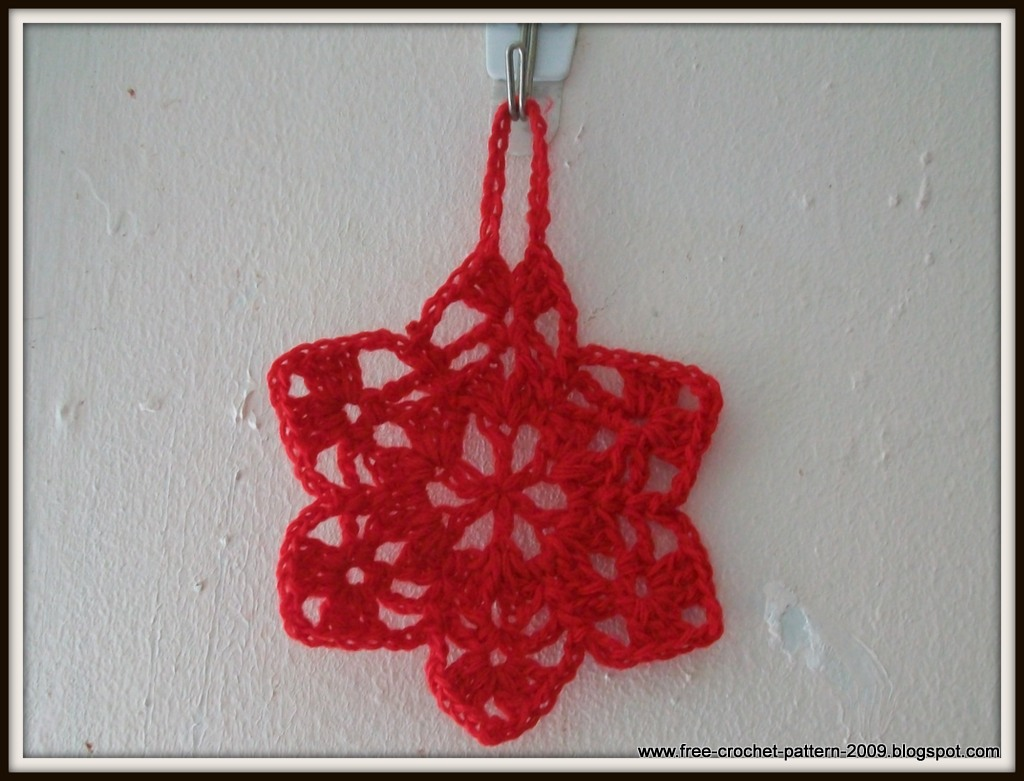 Girlies Crochet Girlies 6 Point Star Christmas Ornament