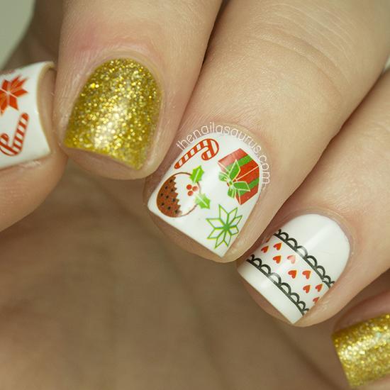 Diy Christmas Nail Art: DIY Nails Christmas Water Decals Nail Art