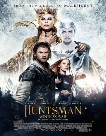 Poster Of The Huntsman Winter's War 2016 Dual Audio 350MB BRRip 480p ESubs - Extended Free Download Watch Online Worldfree4u