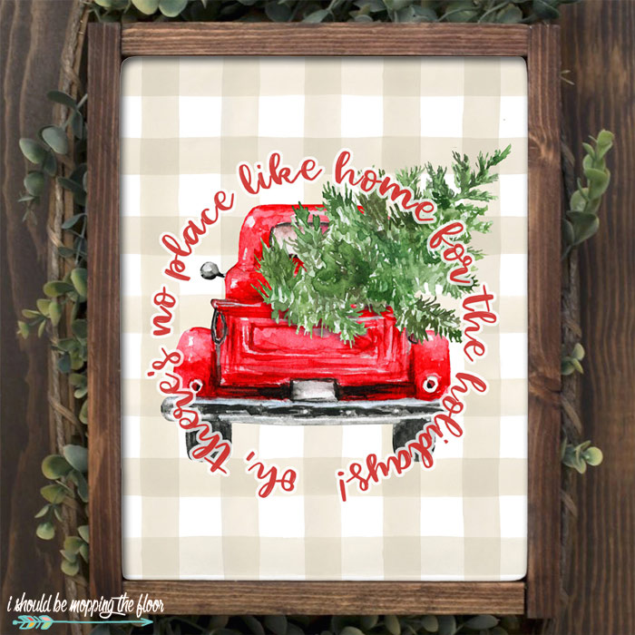 Home for the Holidays Printable