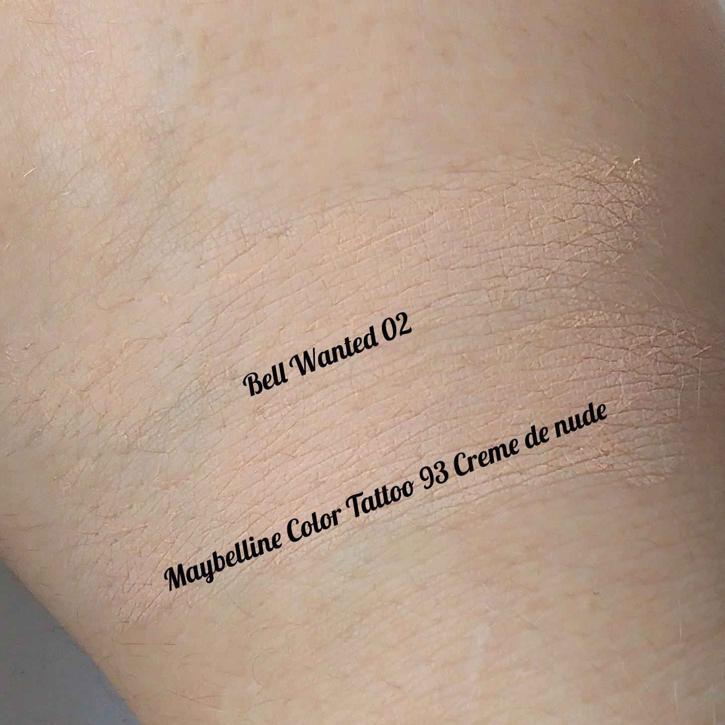 Nihil novi kosmetycznie i nie tylko moja opinia o bell for Maybelline color tattoo creme de nude