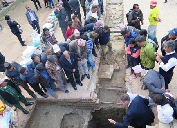 Archaeological features of Kathmandu Valley uncovered
