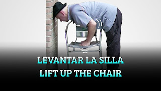Levantar la silla, CENTER OF GRAVITY, Lift up the chair