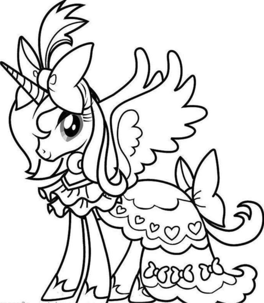 Pretty Winged Unicorn Coloring - Play Free Coloring Game ...