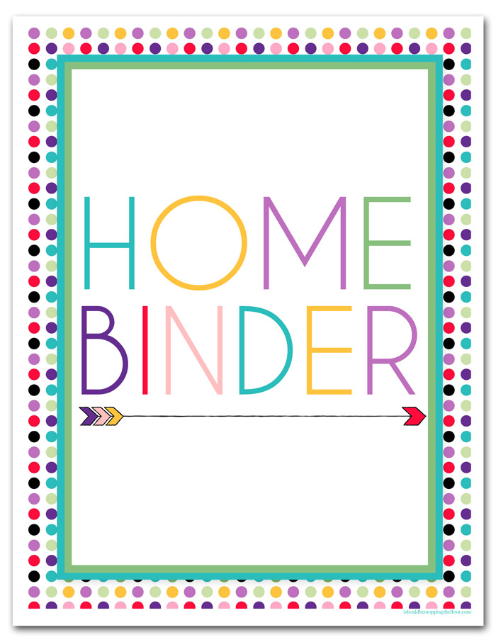 Home Binder Cover