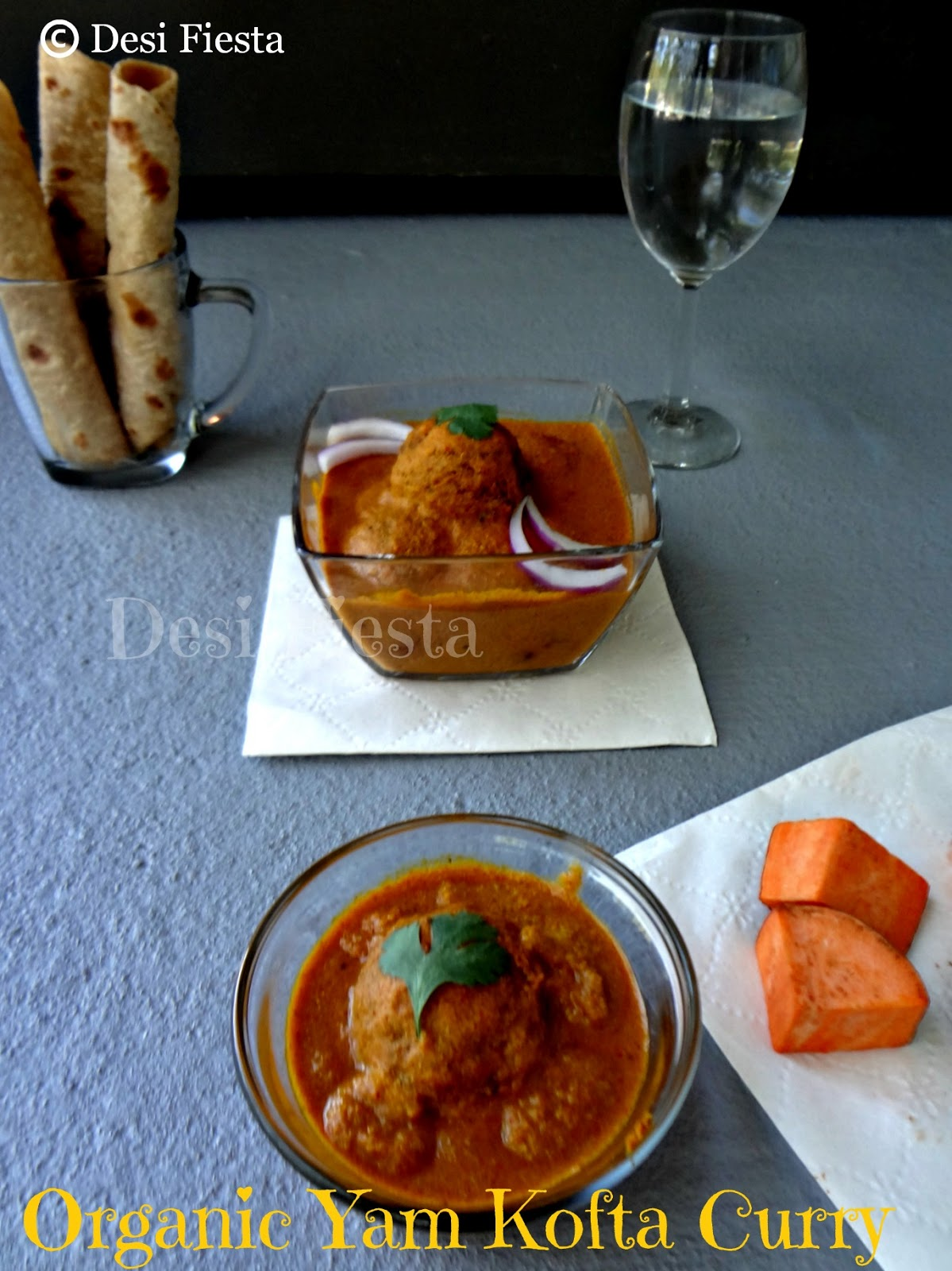 Organic Yam Kofta curry - Desi Fiesta