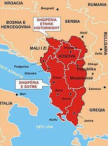 Αποτέλεσμα εικόνας για χαρτης μεγαλης αλβανιας