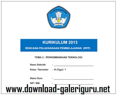 RPP SEMESTER II KURIKULUM 2013 TERBARU KELAS 1 S.D. VI KOMPLIT