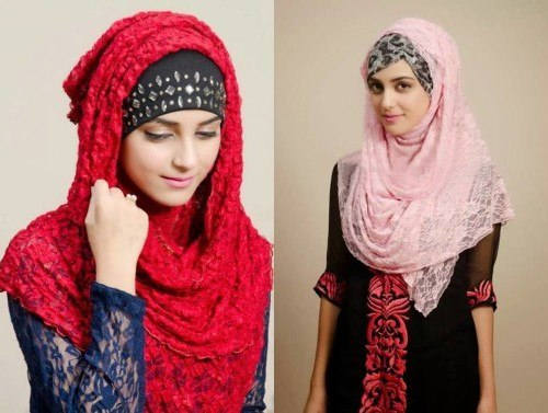 LACE HIJAB EASTERN LOOK
