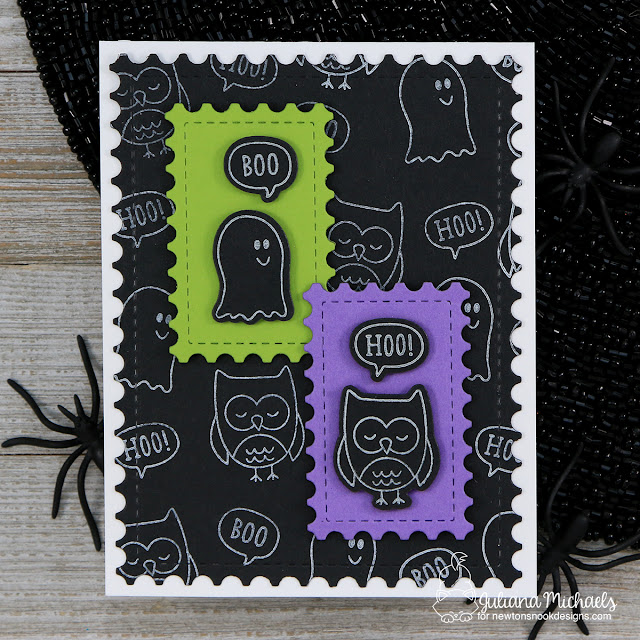 Halloween Card by Juliana Michaels featuring Newton's Nook Designs Boo Hoo Stamp Set