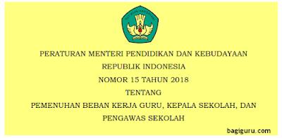 Pedoman Pemenuhan Beban Kerja Guru Permendikbud nomor 15/2018