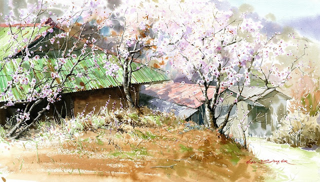"Korean Watercolor Painter ""Shin Jong Sik"""