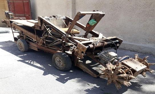 بالفيديو:العثور على حفارة أنفاق وآلات لتصنيع القذائف خلال تمشيط جنوب دمشق.