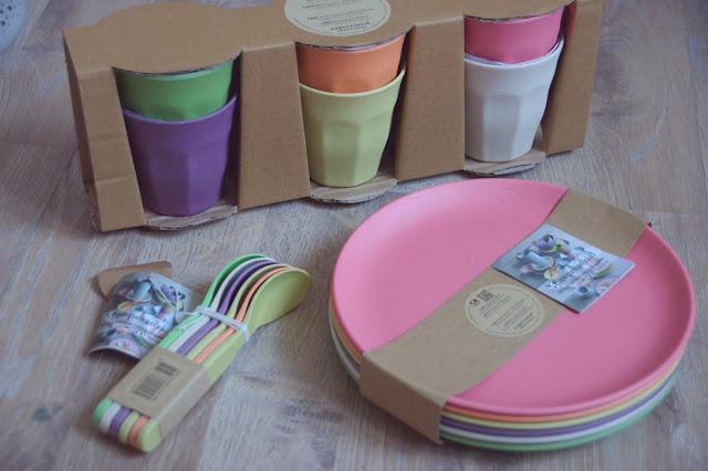 lichtfarbe mais bambus geschirr und ein kleines diy. Black Bedroom Furniture Sets. Home Design Ideas