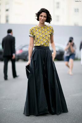 Faldas largas negras