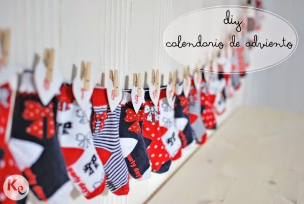 10 calendarios de adviento diy