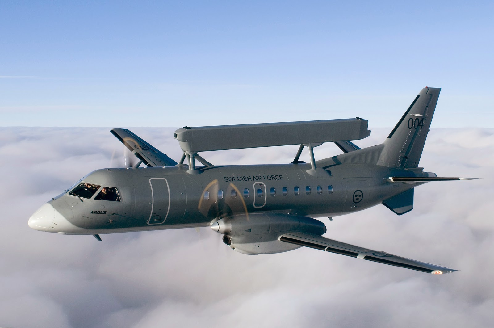 Saab 340 Erieye. image: aviationnews.eu