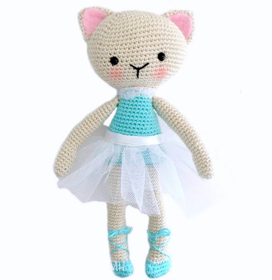 Cat Ballerina Amigurumi Doll Free Crochet Pattern Amvabe Crochet