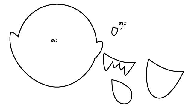 yoshi plush template - yoshi plush template goomzilla sketch coloring page