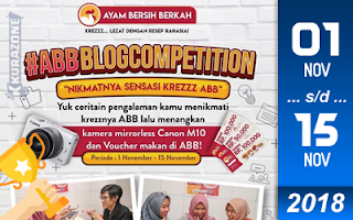 Kompetisi Blog - Ayam Bersih Berkah (ABB) Berhadiah Kamera Mirrorless Canon M10 dan Voucher
