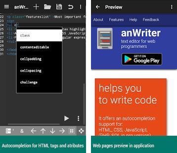 anwriter code editor