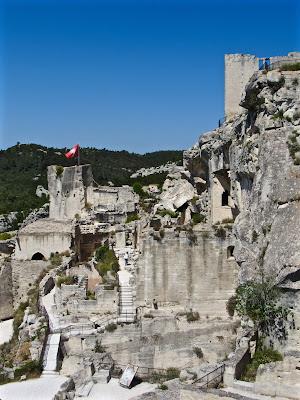 Castle ruins in Les Baux de Provence
